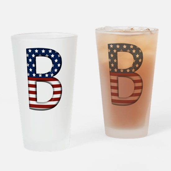 B Stars and Stripes Drinking Glass