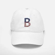 B Stars and Stripes Baseball Baseball Cap