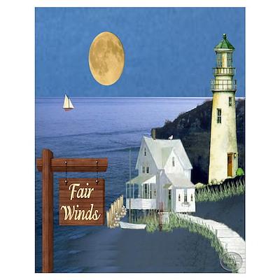 Fair Winds Cottage Un Poster