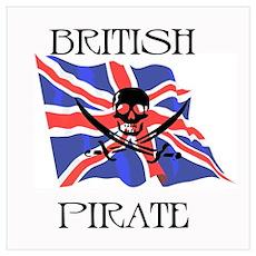 British Pirate Poster