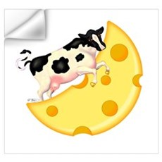 Cow Jumped Over the Cheese Mo Wall Decal
