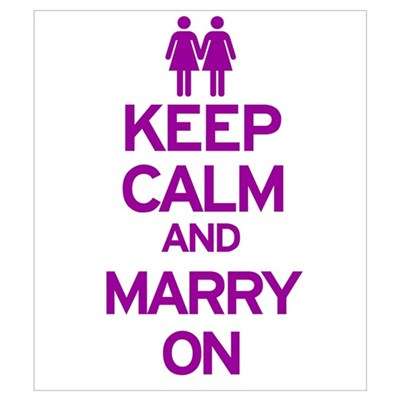 Keep Calm and Marry On Canvas Art