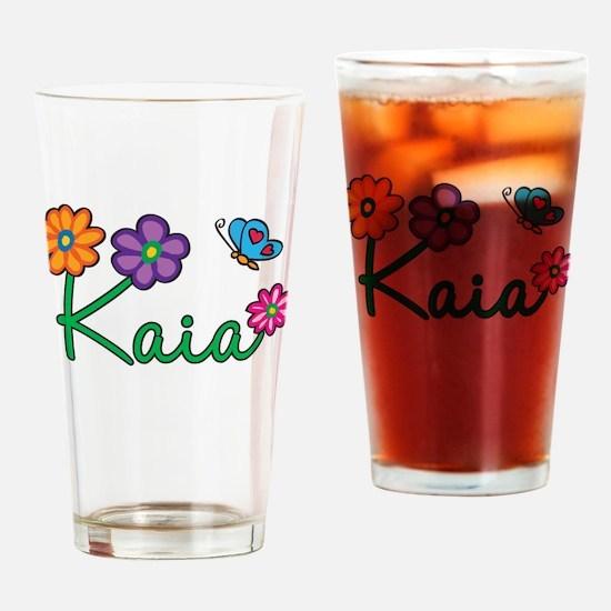 Kaia Flowers Drinking Glass