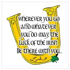 Irish Luck Blessing Poster