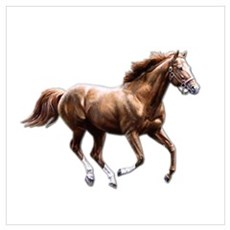 Galloping Chestnut Canvas Art