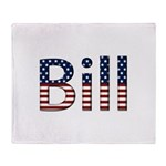 Bill Stars and Stripes Throw Blanket