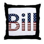 Bill Stars and Stripes Throw Pillow