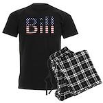 Bill Stars and Stripes Men's Dark Pajamas