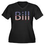Bill Stars and Stripes Women's Plus Size V-Neck Da
