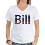 Bill Stars and Stripes Women's V-Neck T-Shirt
