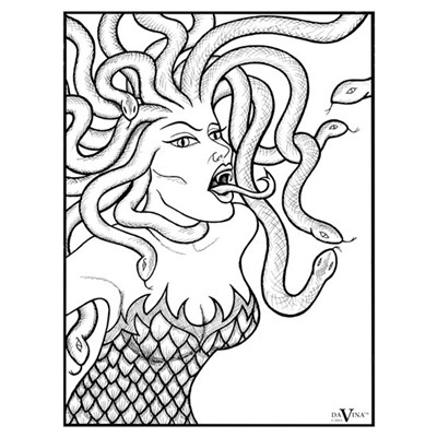 Medusa - Greek Mythology Framed Print