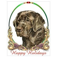 Chocolate Lab Holiday Poster