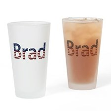 Brad Stars and Stripes Drinking Glass