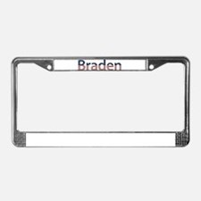Braden Stars and Stripes License Plate Frame