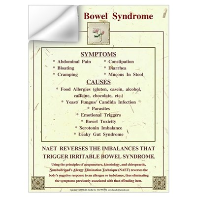 Large Irritable Bowel Syndrome for NAET Wall Decal