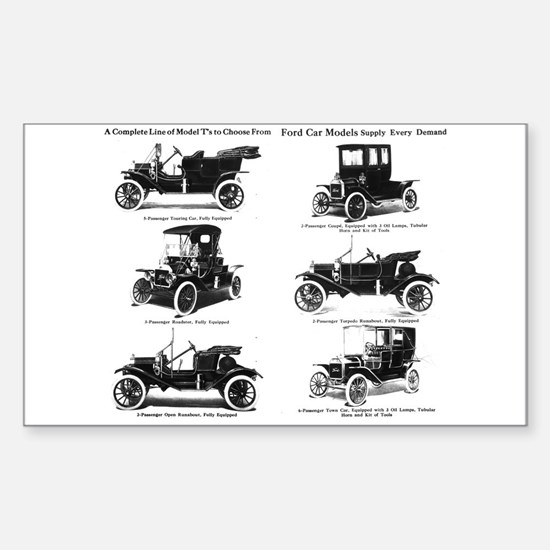 Ford Model T - 1911 Ad Sticker (Rectangle)