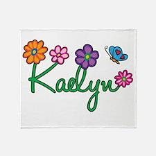Kaelyn Flowers Throw Blanket