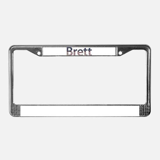 Brett Stars and Stripes License Plate Frame