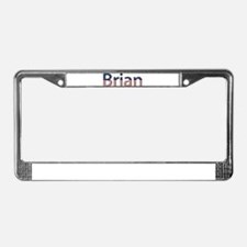 Brian Stars and Stripes License Plate Frame