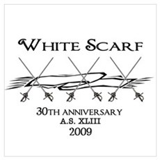 White Scarf 30th Framed Print