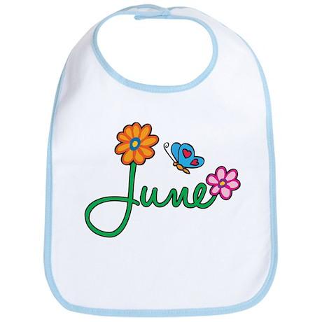 June Flowers Bib