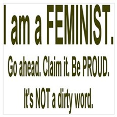 """Proud Feminist"" Canvas Art"