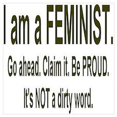 """""""Proud Feminist"""" Poster"""