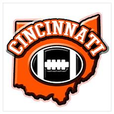 Cincinnati Football Poster