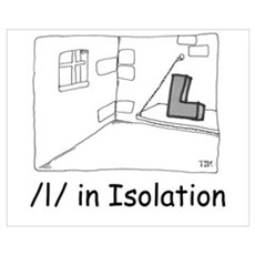 L in Isolation Canvas Art