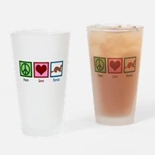 Peace Love Ferrets Drinking Glass