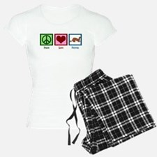 Peace Love Ferrets pajamas