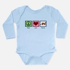 Peace Love Ferrets Long Sleeve Infant Bodysuit
