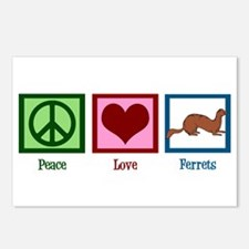 Peace Love Ferrets Postcards (Package of 8)