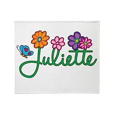 Juliette Flowers Throw Blanket