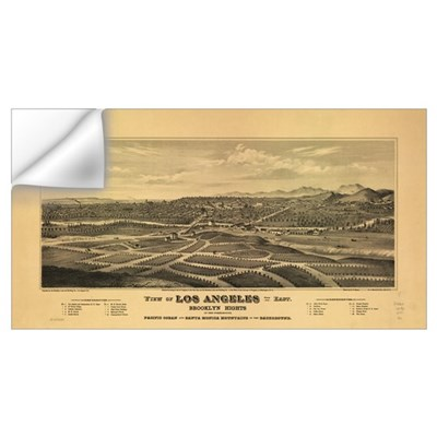Los Angeles 1877. Wall Decal