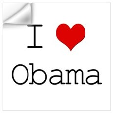 I Heart Obama Wall Decal