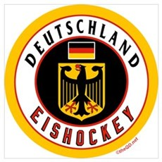 DE Germany Hockey(Deutschland Framed Print