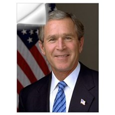 George W. Bush Portrait Wall Decal