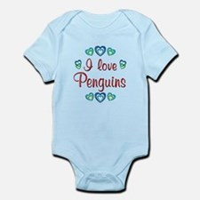 I Love Penguins Infant Bodysuit