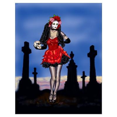Dia de los Muertos Pin-up Poster
