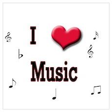 I Love (Heart) Music Poster