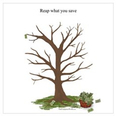 Reap What You Save Money Tree Canvas Art
