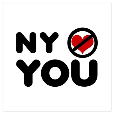 NY No Love Poster