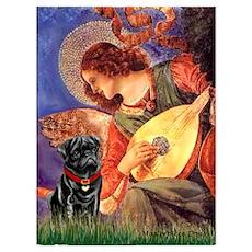Mandolin Angel / Pug (blk) Poster