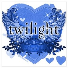 Twilight Midnight Blue Poster