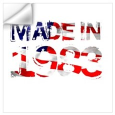 Made In USA 1983 Wall Decal
