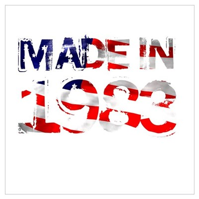 Made In USA 1983 Canvas Art