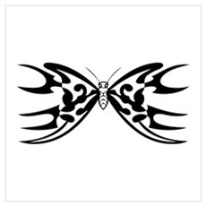 Tribal Butterfly Blade Poster