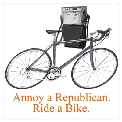 Annoy a Republican. Ride A Bi Poster