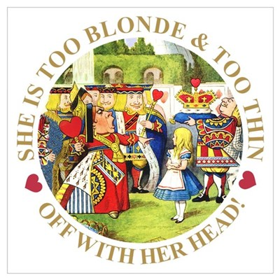 TOO BLONDE & TOO THIN Framed Print
